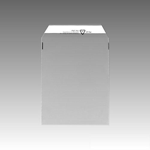 1000 Folienversandtaschen transparent C4 225x310 mm Klappenbeutel 510803 DIN PE-Versandtaschen UNIPOST