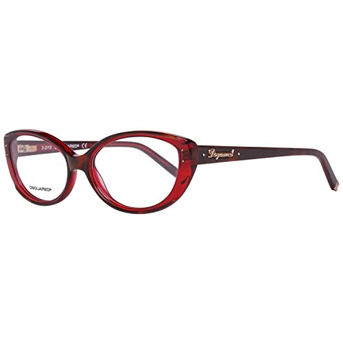 DSquared Dsquared2 Brillengestelle Dq5110 056 54 Montature, Rosso (Rot), 55 Donna