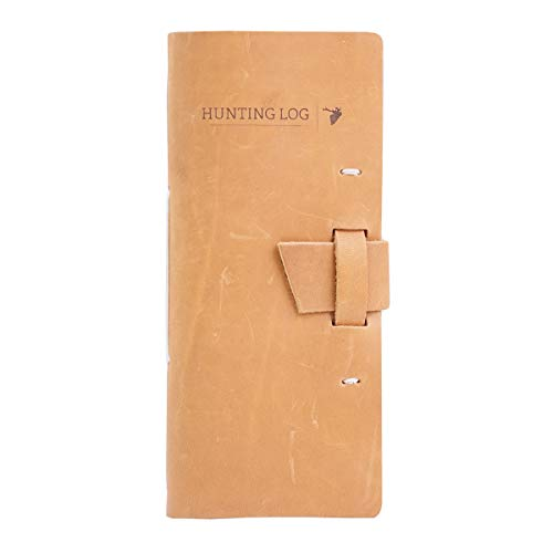 Leather Hunting Log Book Designed for Hunters, Record Hunts for All Species,...