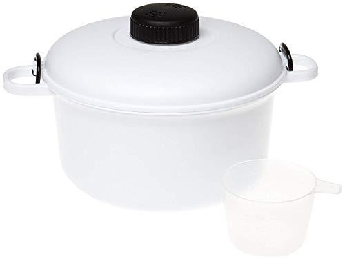Glow Easy Cook, Pentola a pressione per forno a microonde, grande capacità da 2,8 l, con misurino, spatola e ricettario (lingua italiana non garantita), un modo sano e veloce per cucinare cibo buono