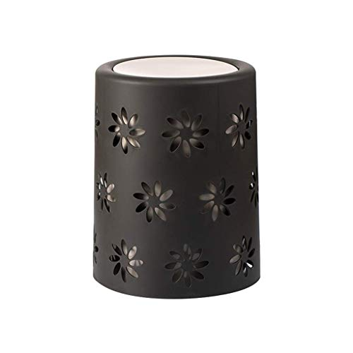 Decorative Trash Can, Family Bedroom Girl Room Small Trash Can Bathroom Study Wastebasket (Size : 10.6L)