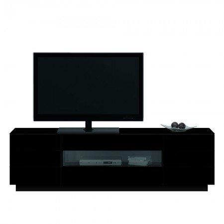 Jahnke Meuble TV TL 6203, Bois, Noir, 41,5 x 200 x 59 cm
