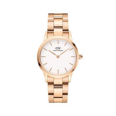 Daniel-wellington DW00100213 - Reloj de pulsera para mujer de acero inoxidable con esfera blanca y caja de 28 mm