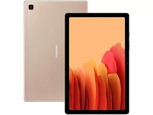 "Tablet Samsung Galaxy A7 64GB Wi-Fi 4G Tela 10.4"" Android Octa-Core 2.0GHz - Dourado"