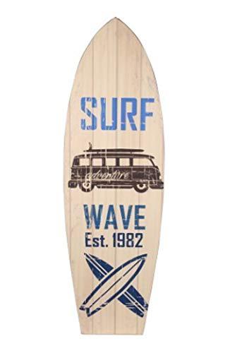 happyDko Déco Planche de Surf Murale : Mod Adventure Wave, H 75 cm