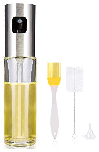 WANGQW El Aceite Puede olivar o vinagre Anti-Fuga, Dispensador de pulverizador de Botellas de Aceite de Cocina, pulverizador de vaporizador de Vidrio de Aceite de Oliva, Herramienta de Barbacoa