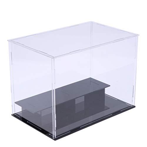 perfeclan Estuche de Exhibición a Prueba de Rayones Y Polvo Clear Show Box Cube 9.45x5.91x7.09 Pulgadas para Figuras de Acción Amiibo Funko