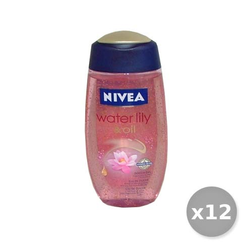 Nivea Set 12 douche Water Lily & Oil 250 ml. Zeep en cosmetica.
