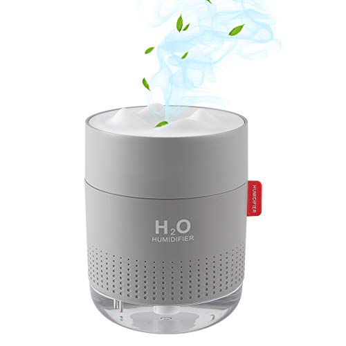 Portable Mini Humidifier, 500ml Small Cool Mist Humidifier with Night Light,USB Cute Desk Humidifiers for Baby Bedroom Travel Office Home,2 Spray Modes, Ultra-Quiet , Auto Shut-Off, 3 Filters
