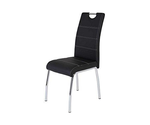 Hela 910902 SUSI S Kunstleder Schwarz Esszimmerstuhl Küchenstuhl Stuhl