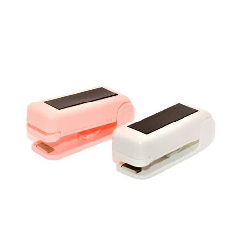 Pack de 2 Selladoras de Bolsas Plástico Manual - Máquina Selladora Térmica de Alimentos - Termoselladora - Mini Sellador Portátil - Función de Corte-
