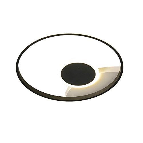 WANQINV Lámpara de techo LED incorporada creativa y romántica 1.97in 32W-42W Aluminio Hierro forjado Tres de tres colores Lámpara redonda de techo redonda adecuada para sala de estar, dormitorio, estu