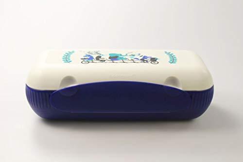 Tupperware to Go Lunch-Box blau weiß Tiere Brotbox Sandwich Dose 37170