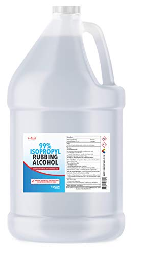 Rubbing Isopropyl Alcohol - 99% Pure - 1 Gallon - Made in USA - Industrial Grade IPA Concentrated