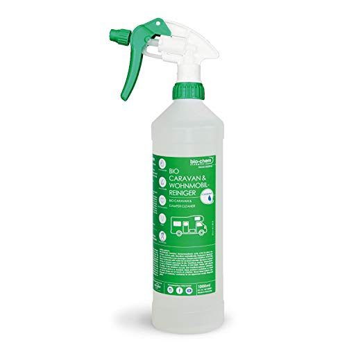 Bio-Chem Caravan- und Wohnmobil-Reiniger 1 Liter Konzentrat für Wohnmobile Wohnwagen Vorzelte Regenstreifenentferner
