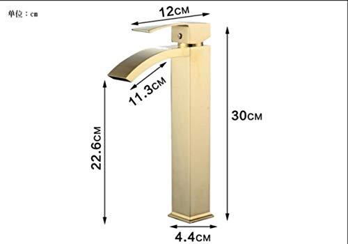 FICI Praktische wastafelkraan messing badkamerkraan enkel handvat Rose Gold-wastafel Wastafelwaterkraan, geborsteld goud