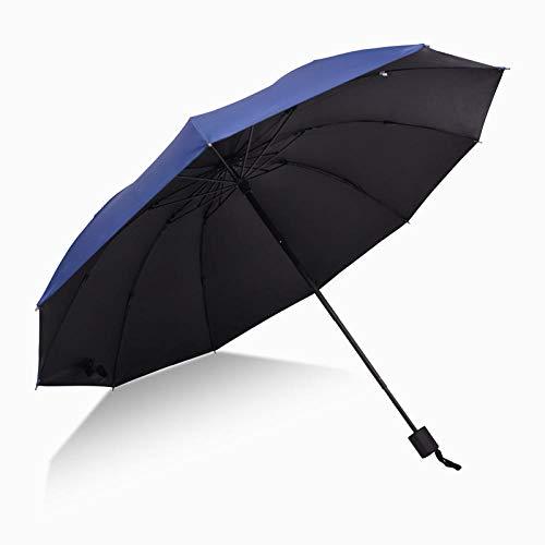 WENSISTAR Winddichte UV Bescherming Compacte Paraplu, Zwarte kunststof zonnescherm paraplu, verhoogde versterking winddichte paraplu, opvouwbare zakelijke paraplu, voor Reizen Outdoor Dail