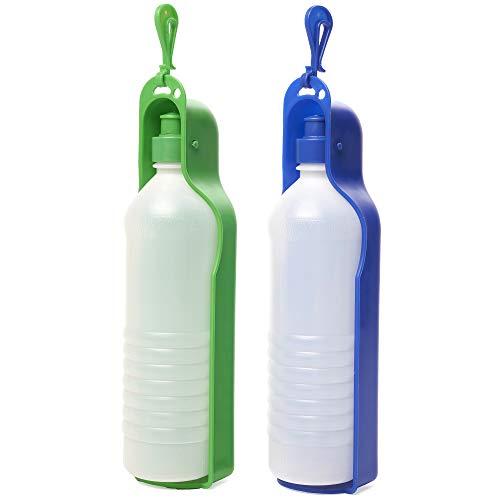 PET MANIA 2 Botellas de Agua Portátil para Perros (750ml) - Mascotas Dispensador de Agua