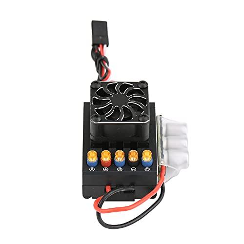 NATRUSS Control electrónico de Velocidad, ESC sin escobillas, protección múltiple de relámpagos Sin escobillas de sincronización Ajustable para camión RC 1/10 Coche RC Coche(160A)
