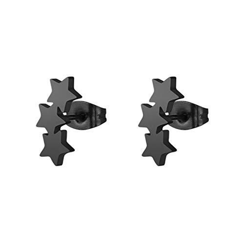 ESCYQ DamenOhrringeOhrsteckerOhrhängerTropfenOhrlinie Schwarz 3-Sterne-Hotel Injektionsnadel Aus Rostfreiem Stahl Ohrringe Einfache Persönlichkeit Mode Frauen Ohrringe Ohrringe
