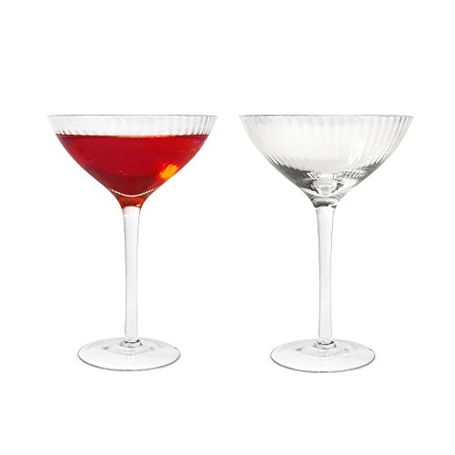 TUFF LUV 2 x Handcrafted Hayworth Coupe Gin Cocktail/Martini Glass