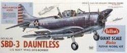 GUILLOW's Douglas SBD-3 Dauntless 1003 Powered Balsa Flying Model Kit by Guillow's