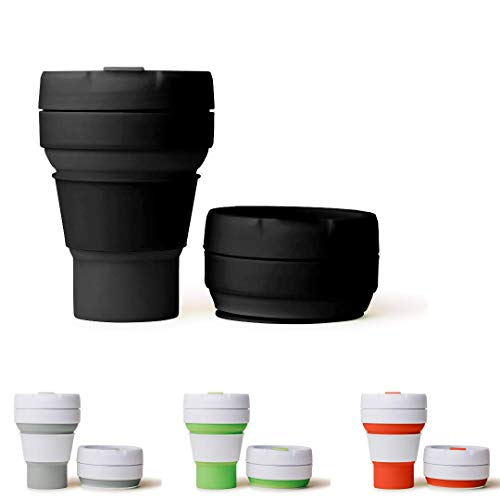 The Simply Smart Collapsible Coffee Cup | with Lid | Eco Friendly | Reusable | | Foldable Pocket...