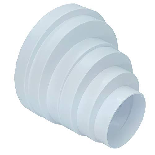 Universal Adapter Reduzierstück Anschluss kunststoff für rohr 80 100 120 125 150 160 Ventilation, Lüftung Klimaanlage Lüfter Reduzier Verbinder Reduzierung für Lüftungsysteme Reduktion 80-160