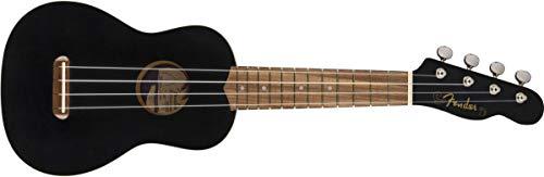 Fender Venice - Ukelele soprano, color negro
