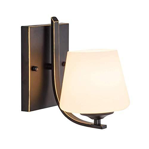 QJY Led-wandlamp met schaduw en witte stoffen trommel, moderne wandaccessoires, gemakkelijk voor woonkamer, balkon, wandlamp, trap, hal, accessoires verlichting