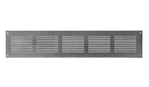 500x100mm Air Vent Grille Cover 20' x 4' , Galvanized Steel Ventilation Cover, Metal, with Insect Protection