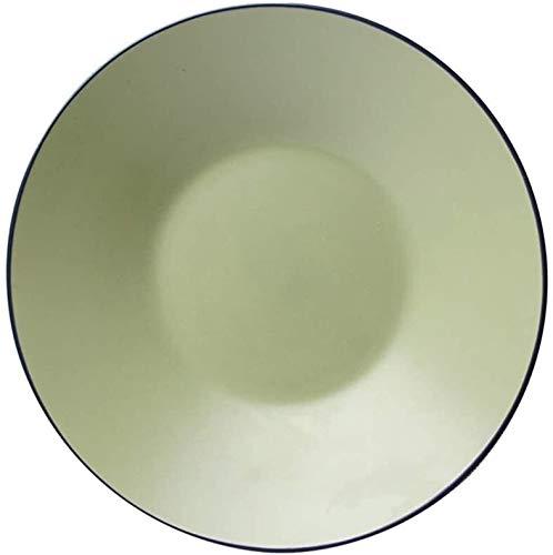 Aspect créatif Plate Western Céramique Cuisine Arts de la Table Pâtes Plateau de fruits et légumes Assiette Salade Assiette Bol (Couleur: Beige, Taille: 30cm * 5.5cm)