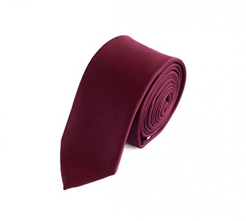 Fabio Farini - Cravate unie élégante en différentes couleurs au choix bordeaux 6 cm
