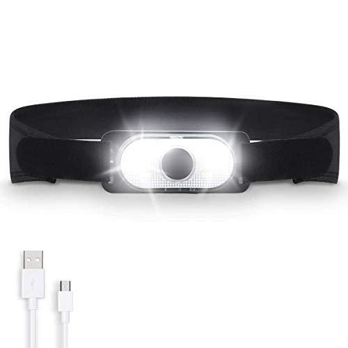 LEDヘッドライト キャップライト 帽子ライトクリップ ヘルメットライト SGODDE 軽量 USB充電式 4段階の点灯モード 夜釣り
