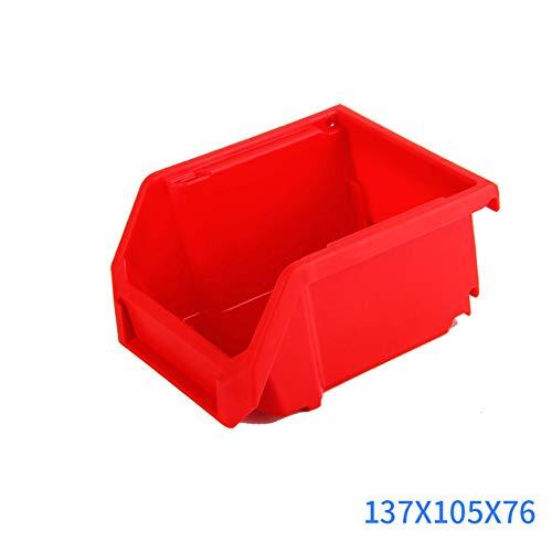 LCZ Stapelboxen Set 8 Stück Gelb Mittel 137 * 105 * 76Mm - Kunststoff Sichtlagerkasten Stapelbar - Perfekt Für Ordnung in Werkstatt & Garage,Rot