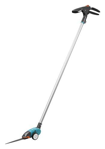 Gardena Comfort Grasschere, langstielig: Rasenschere mit Stiel, rückenschonend, 180° drehbare Schneide, antihaftbeschichtet, Komfortgriff (12100-20)