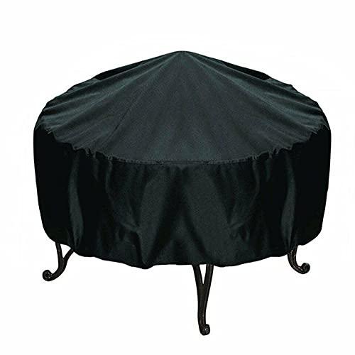 Taowan Cubierta redonda para estufa de brasero, impermeable, resistente al viento, protección solar para exteriores