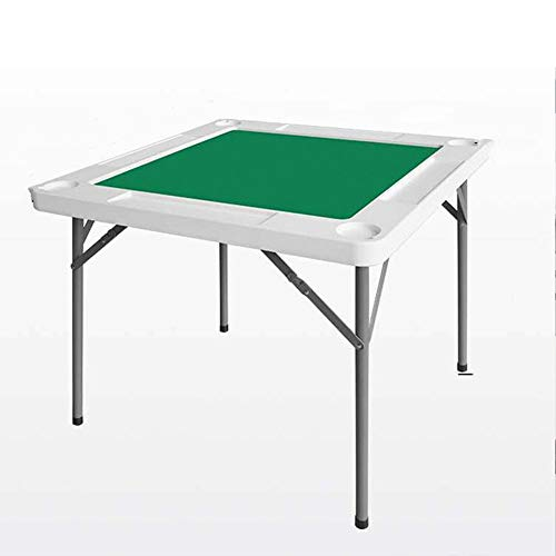 Mesa Mahjong Integrada de Hogares Mahjong mesa plegable portátil de mano portátil Rub Mahjong Tabla Multifuncional para Póker, Juego de Dominó, Blackjack, Mahjong ( Color : White , Size : 88X88X74cm )