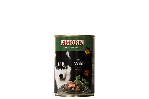 Amora Fleisch Pur Sorte Wild 12 x 400g Hundefutter Nass