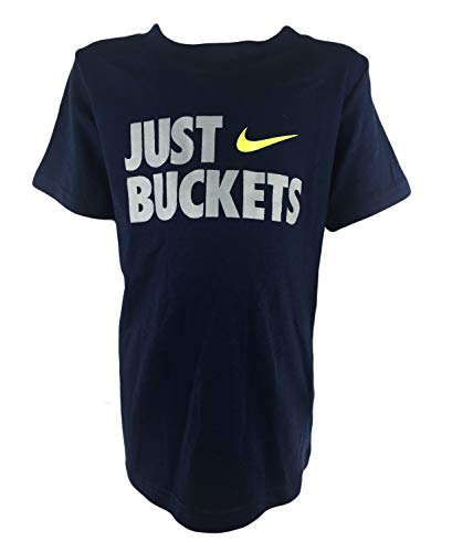 Nike 'Just Buckets' Boys Graphics Jersey (2T, Obsidian)