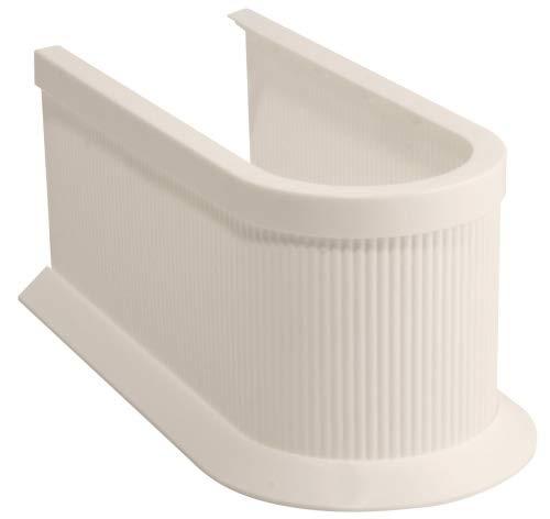 FACKELMANN Siphonabdeckung, Rohrverkleidung für Waschbeckenunterschränke - zuschneidbar in Höhe und Länge (Farbe: Pergamon), Menge: 1 Stück