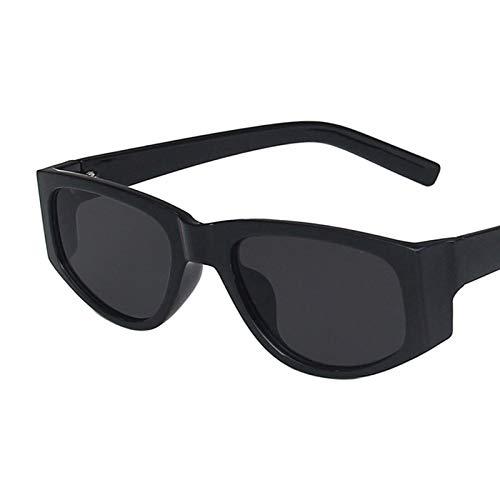 NJJX Gafas De Sol Clásicas De Ojo De Gato Vintage Para Mujer, Gafas De Sol Cuadradas De Ojo De Gato Para Mujer, Gafas De Sol Al Aire Libre C2Black