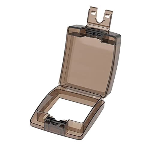 LITU Caja impermeable a prueba de polvo cubierta protectora universal panel de pared interruptor botón protección cubierta 86 tipo caja a prueba de salpicaduras