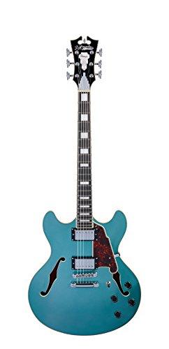 D'Angelico Premier DC Guitarra eléctrica semihueca con barr