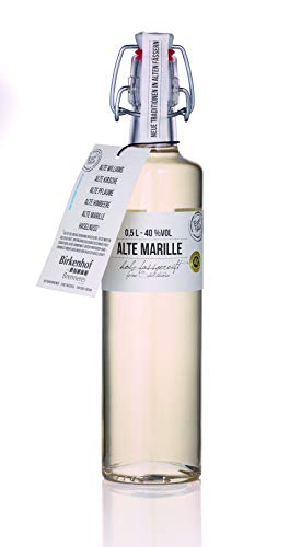BIRKENHOF Brennerei | Alte Marille - feine holzfassgereifte Spirituose | (1 x 0,5l ) - 40 % vol.