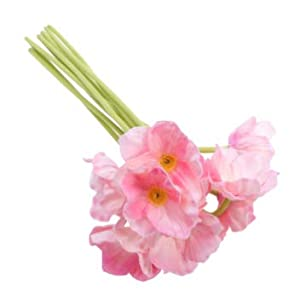 IMIKEYA 10pcs 13 inch Anemone Poppy Bouquet Real Touch Artificial Flowers for Floral Arrangements and Christmas Home Party Decor (Pink)