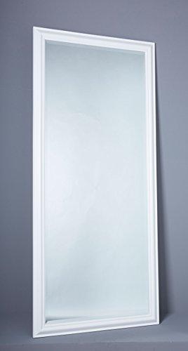 Wholesaler GmbH Wandspiegel Spiegel Flurspiegel ca.180 x 80 cm weiß Schlichter Landhaus-Stil mit Facettenschliff