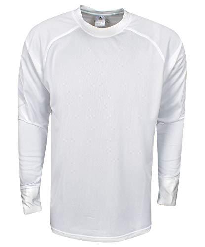 adidas Rodilleras Deportivas de Baloncesto de Manga Larga, Color Blanco, tamaño Mediano