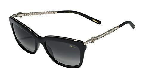 Chopard Damen SCH212S550700 Sonnenbrille, Shiny Black, 55/17/130