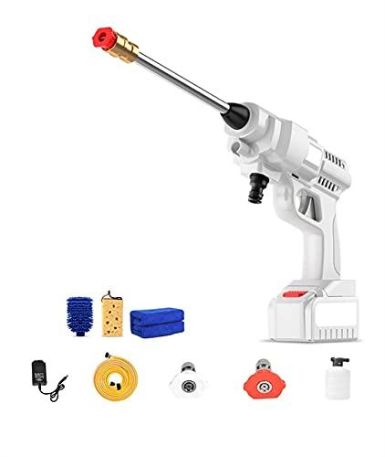 HSY SHOP Limpiadora a presión compacta para Patio - Lavadoras a presión - Ideal para terrazas, Ladrillos, Piedras, baldosas, concreto y más (Color : 1 X Lithium Battery, Size : 24V)
